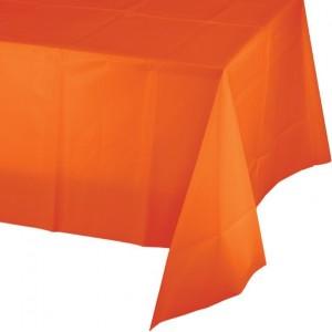 Orange Sunkissed  Plastic Table Cover