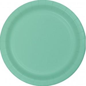 Green Fresh Mint Paper Dinner Plates
