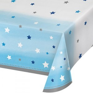 Boy One Little Star Plastic Table Cover