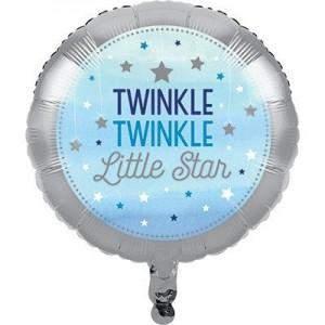 Boy One Little Star Foil Balloon