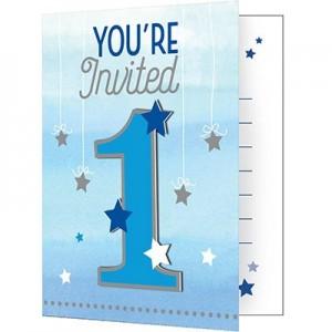 Boy One Little Star Invitations