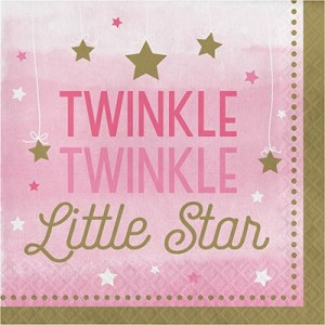 Girl One Little Star Lunch Napkins