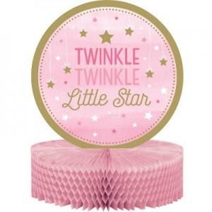Girl One Little Star Honeycomb Centrepiece