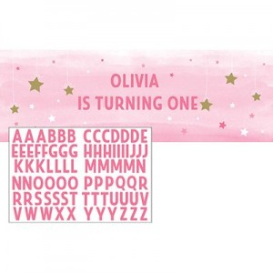 Girl One Little Star Giant Personalize It Banner