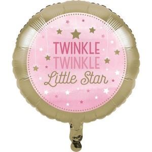 Girl One Little Star Foil Balloon