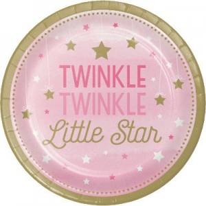 Girl One Little Star Lunch Plates