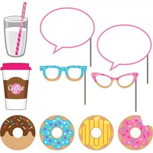 Donut Time Photo Booth Photo Props
