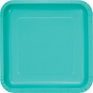Green Teal Lagoon Paper Dinner Plates