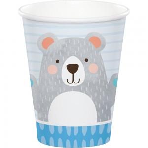 1st Birthday Bear Paper Cups