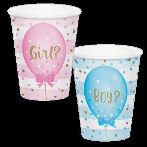 Gender Reveal Paper Cups