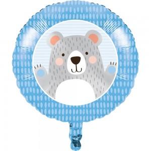 1st Birthday Bear Foil Balloon