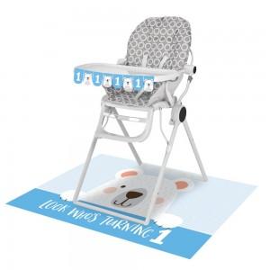 1st Birthday Bear High Chair Decorating Kit