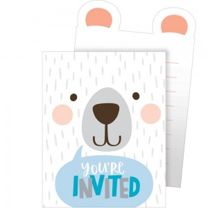 1st Birthday Bear Pop-Up Invitations