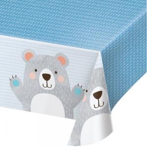 1st Birthday Bear Plastic Table Cover