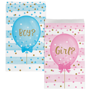 Gender Reveal Treat Favour Bags