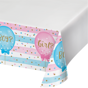 Gender Reveal Plastic Table Cover