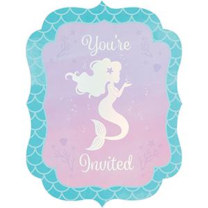 Mermaid Shine Iridescent Invitations