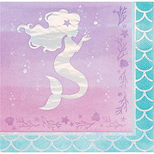 Mermaid Shine Iridescent Lunch Napkins