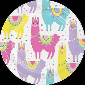 Llama Fun Party Lunch Plates