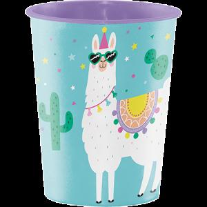 Llama Fun Party Construction Keepsake Souvenir Favour Plastic Cup