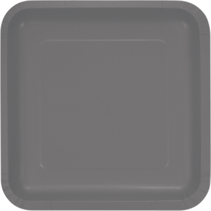Grey Glamour Gray Paper Dinner Plates