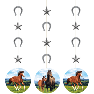 Horse and Pony String Cutout Hanging Decorations