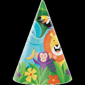 Jungle Safari Cone Party Hats