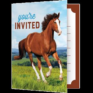 Horse and Pony Foldover Invitations
