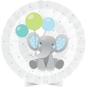 Boy Enchanting Elephant Paper Fan Centrepiece