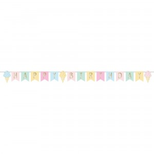 Ice Cream Ribbon Banner