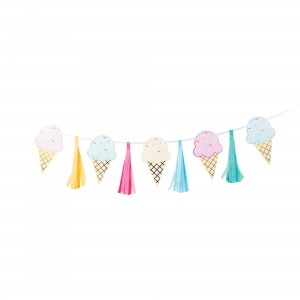 Ice Cream Tassel & Ribbon Banner