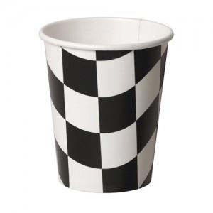 Check Black & White  Paper Cups