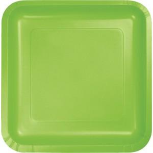 Green Fresh Lime Paper Dinner Plates