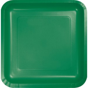 Green Emerald Paper Dinner Plates