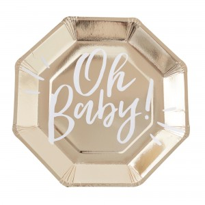 Oh Baby! Gold  Dinner Plates