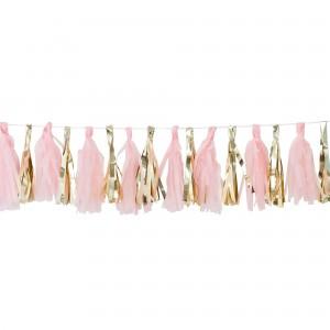 Oh Baby! Pink & Gold Tassel Garland