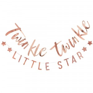 Twinkle Twinkle Rose Gold Bunting Banners