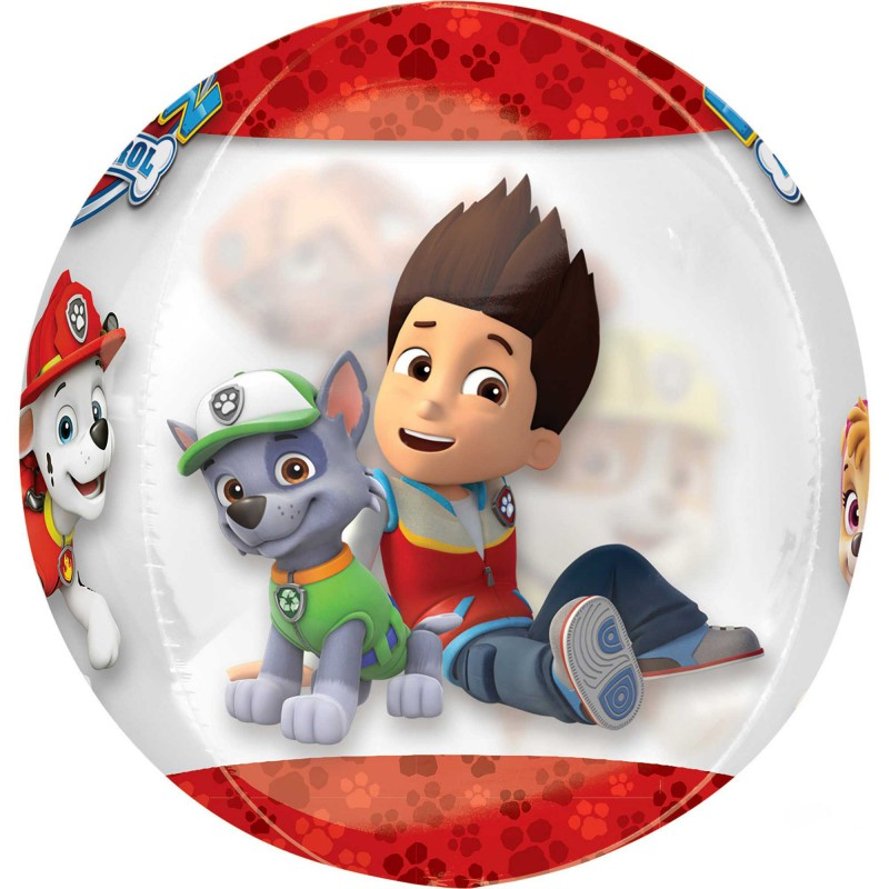 orbz xl paw patrol chase  marshall clear shaped balloon