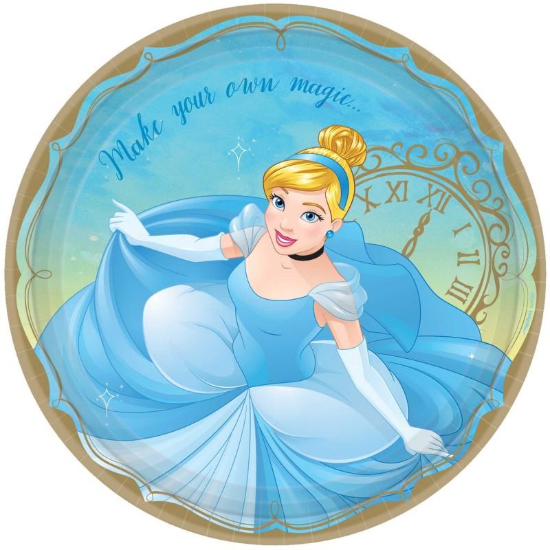 Disney Princess Once Upon A Time Cinderella Dinner Plates ...