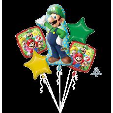 Super Mario Bouquet Foil Balloons