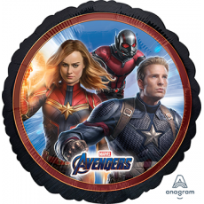 Round Avengers Endgame Standard HX Foil Balloon 45cm