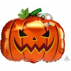 Halloween Standard XL Frightful Pumpkin Foil Balloon 45cm x 38cm