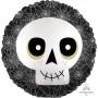 Halloween Standard XL Skull Satin Infused Foil Balloon 45cm