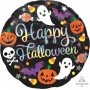 Standard Holographic Iridescent Happy Halloween Foil Balloon 45cm