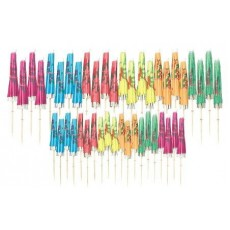Hawaiian Parasol Assorted Party Picks 10cm Pack of 120