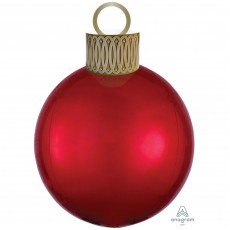 Christmas Party Decorations - Shaped Balloon Red Orbz & Ornament Kit