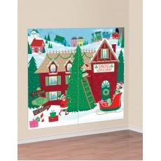 Christmas Party Decorations - Scene Setters Santa's Workshop
