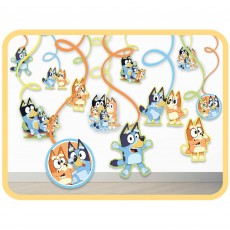 Bluey Party Decorations - Hanging Decorations Spiral