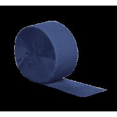 Navy Blue Crepe Streamer 24.68m