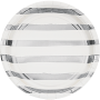 White & Silver Touch of Colour Striped Dinner Plates Pack of 8